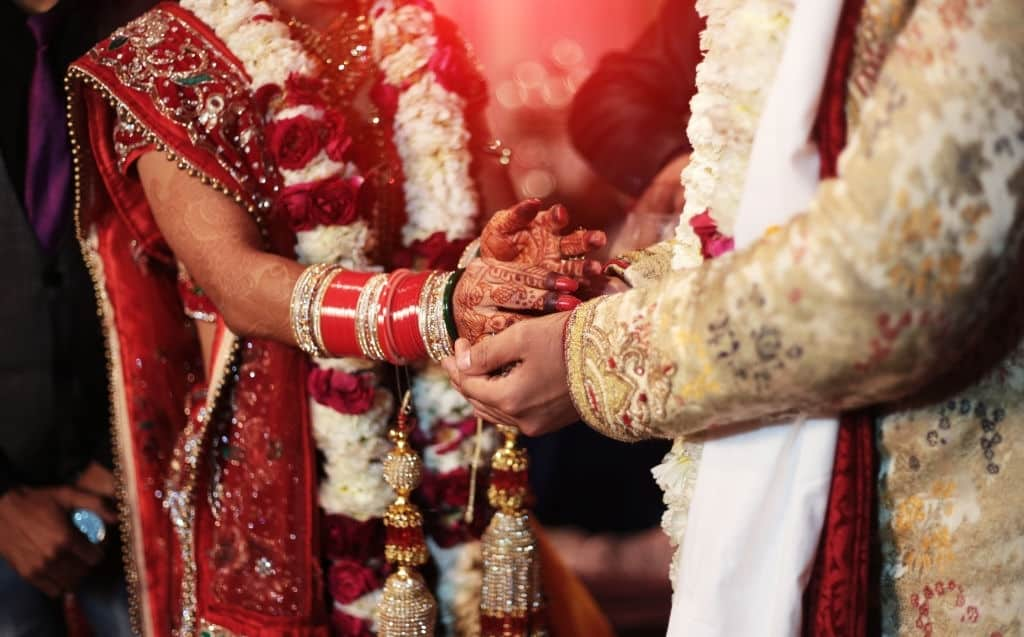 Indian wedding ceremony. Weddings in India vary regionally, the religion and per personal preferences of the bride and groom. They are festive occasions in India, and in most cases celebrated with extensive decorations, colors, music, dance, costumes and rituals that depend on the religion of the bride and the groom, as well as their preferences